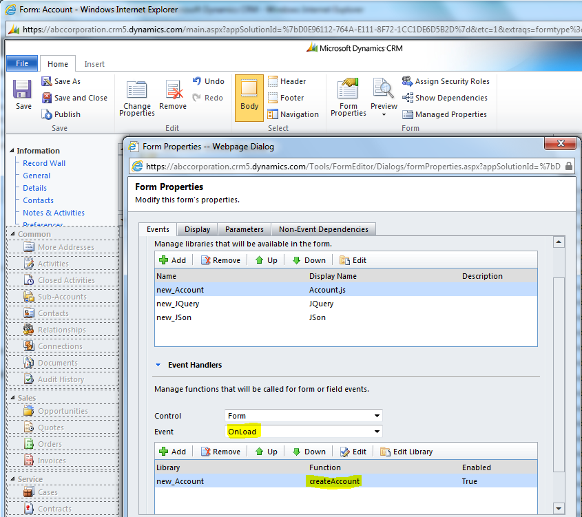 Create record using OData and JQuery in CRM 2011