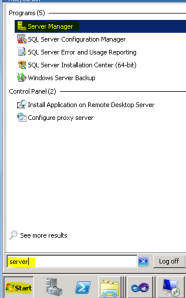 Opening Server Manager