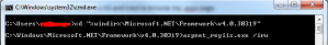 Run Command Aspnet_iis.exe