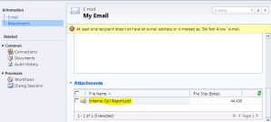 Email with attachment