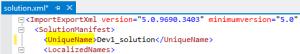 SolutionXml file