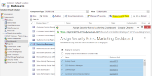 Configure dashboards by roles