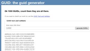 GUID Generator In 1000's