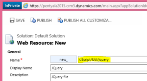 Web resource with folder naming