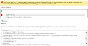 No Active Transaction Error