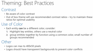 Theme Best Practices