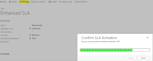 Enhanced SLA - Activation