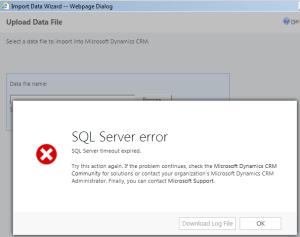 SQL Timeout Error - Data Import