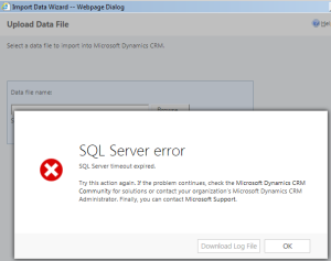 SQL Timeout Error - Data Import