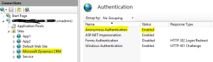 Anonymous Authentication Enabled