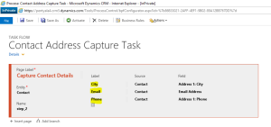 Task Flow - Configure Fields To Be Captured