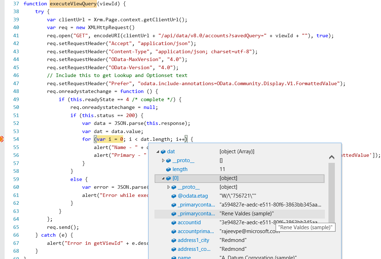 Execute Query Using WebAPI
