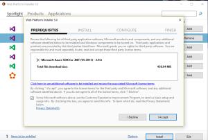 Install azure SDK 2.9.6