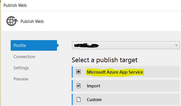 Deploy - Connect Azure App Service