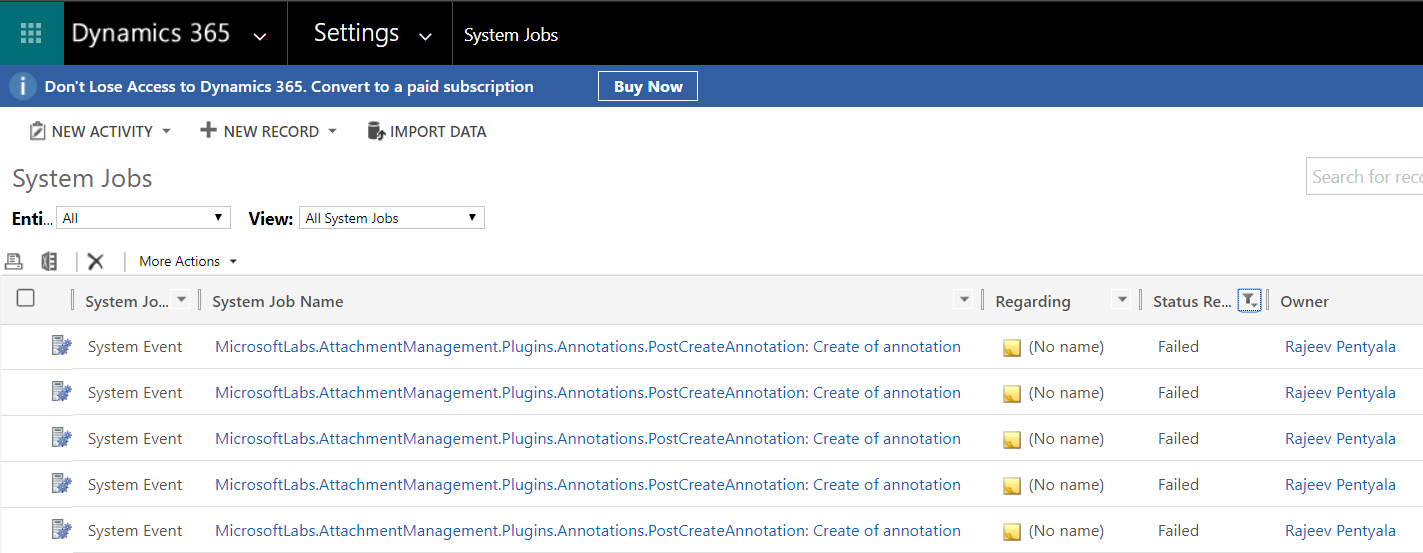 Attachment - System Jobs