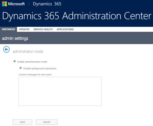 D 365 - Admin Mode