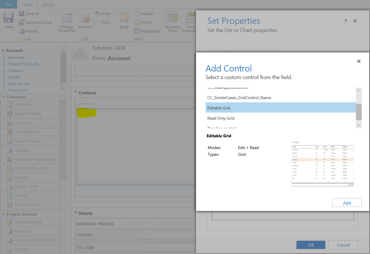 Dynamics 365 – Capture events from Editable subgrid and set