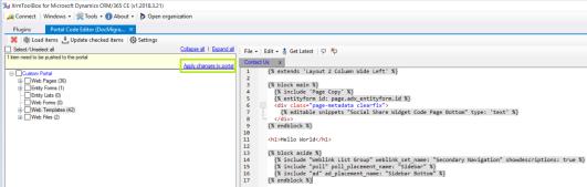 Portal Code Editor 2