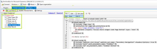 Portal Code Editor