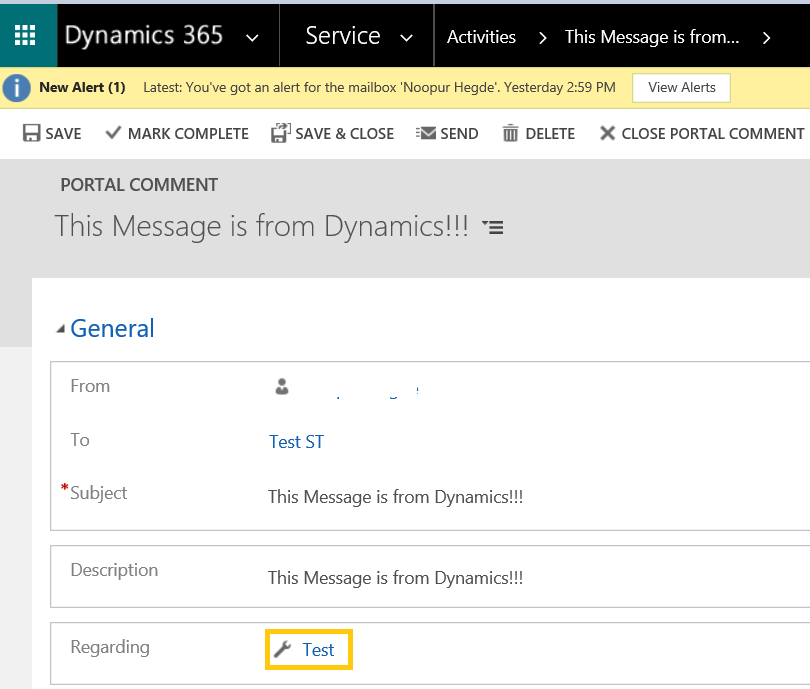 Portal Comment' not showing up – Dynamics Portals | Rajeev Pentyala