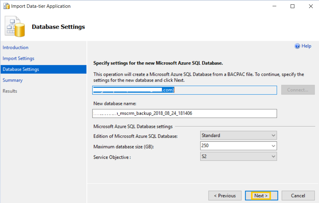 Step by Step] Restore a Database from Azure Blob to Azure