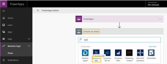 PowerApps – Create an 'Account' in Dynamics 365 from App